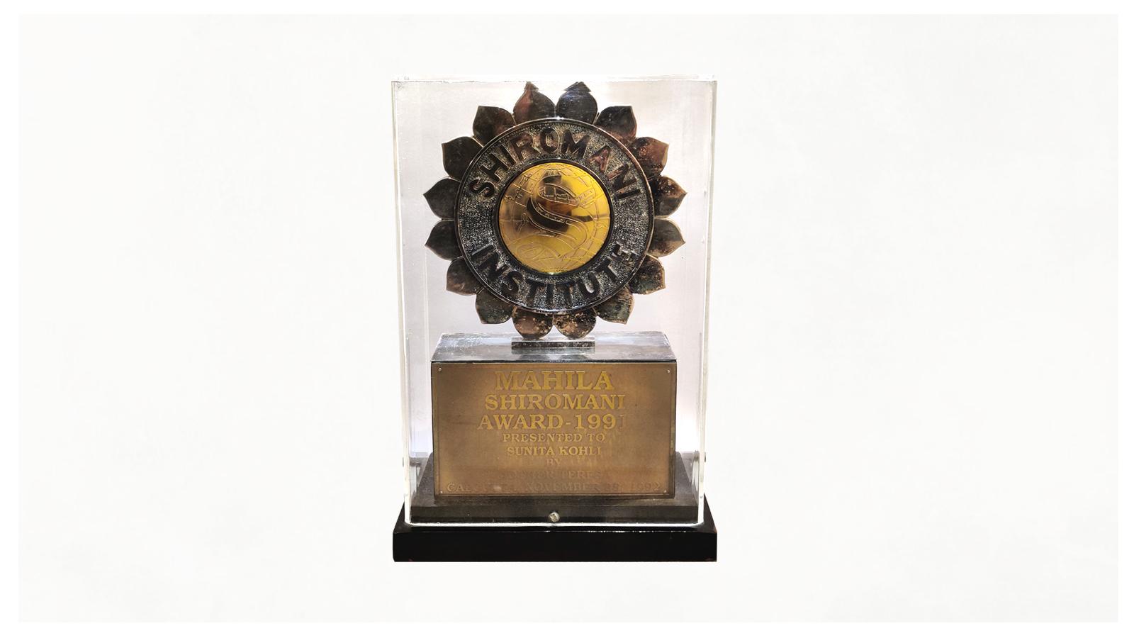 Mahila Shiromani Award 1991